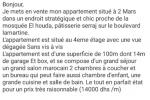 ap1489 appartement a vendre a 2 mars sup 100 m 3 ch